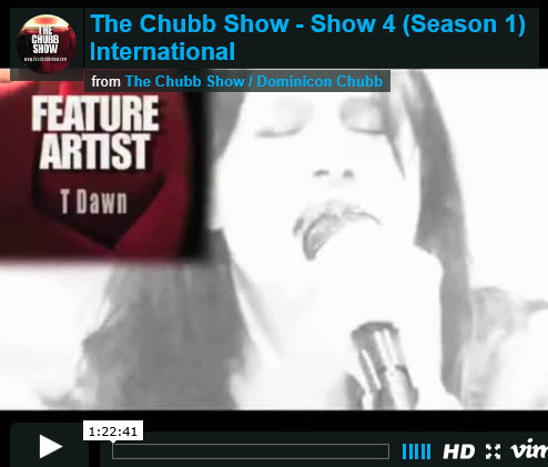 T Dawn on Chubbs TV Show